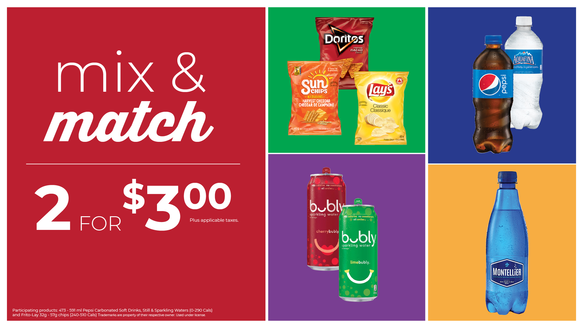 Mix & Match promotion Pepsi products